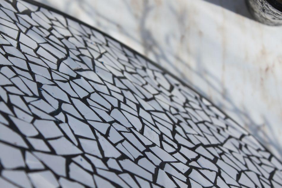 Mosaik, weiß